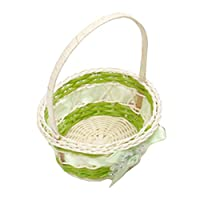 RUST Weihpe Mini Plastic Weaving Storage Basket Simulate Fruit Rattan Storage Box For Cosmetics Tea Picnic Basket Organizer Handiwork(Green)