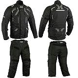 BOS Herren Schwarze Motorradkombi Jacke+Hose Textil (XL)