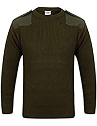MILSPEC SURPLUS Mens Crew Neck Military Army Security Police Pullover Jumper Sweater Knitwear