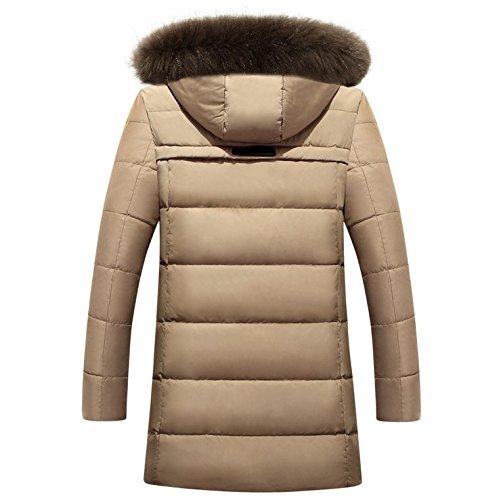 Glestore Herren Mäntel Winter warme Parka dicke Pelz Jacke mit Kapuze abnehmbare Militär Jacken Kaki