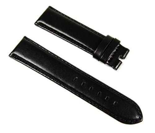 Roberto Cavalli Uhrenarmband Ersatzband Leder Band 20mm glatt schwarz für R7251167745