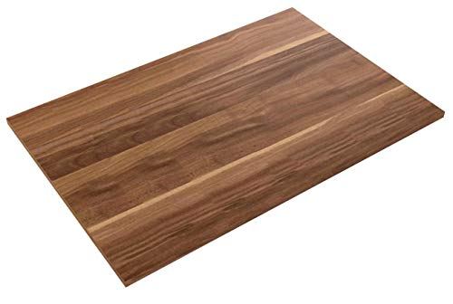 Bümö® stabile Tischplatte 2,5 cm stark - DIY Schreibtischplatte aus Holz | Bürotischplatte belastbar mit 120 kg | Spanholzplatte in vielen Formen & Dekoren| Platte für Büro, Tisch & mehr (Rechteck: 120 x 80 cm, Zwetschge)