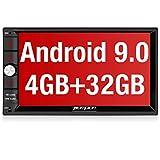 PUMPKIN Android 9.0 Autoradio 2DIN con GPS navigazione RAM 4GB, ROM 32GB, 7 pollici, supporta Bluetooth 4.0/ Wifi/ Mirror-link / Controllo al volante/ USB/ SD/ AV-OUT/ DAB+