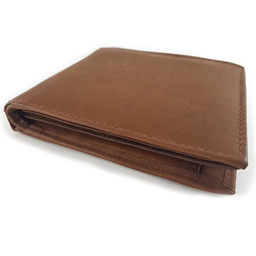 Geldbörse Herren Echtleder Geldbeutel Brieftasche Portemonnaie VENTURE mit 12 Kartenfächern, Münzfach, Sicherheitsfach, weiches Leder Vintage-Look in braun (Aus Braune Geldbörse Leder)