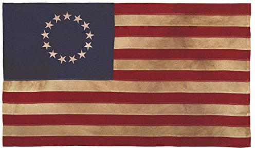 Valley Forge Flagge Heritage Series 3 x 5 Fuß Antik Baumwolle COLONIAL 13-star US American Flag