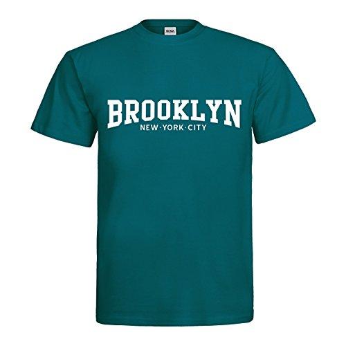 MDMA T-Shirt Brooklyn New York City N14-mdma-t00538-215 Textil Divablue/Motiv Weiss Gr. XXL