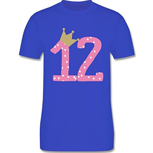 Geburtstag - 12. Geburtstag Krone Mädchen Zwölfter - Herren Premium T-Shirt Royalblau