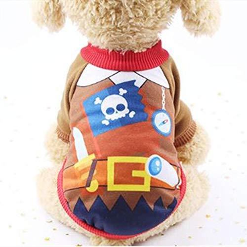 WESEEDOO Hund Hoodie Haustier Mantel Hund Sweatshirt Pirat Verwandelt Kleid Fleece Warmen Anzug Für Kleine Mittelgroße Hunde Camo Piraten