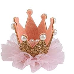 Pinza Horquilla Corona de Pelo Joyas para Niñas Bebé Color Oro