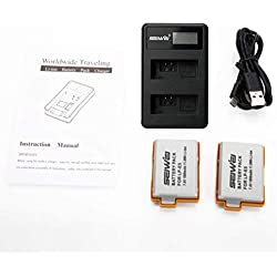 2 x LP-E5 1080mAh Batterie LCD USB Dual Chargeur pour Canon Digital Rebel Xsi