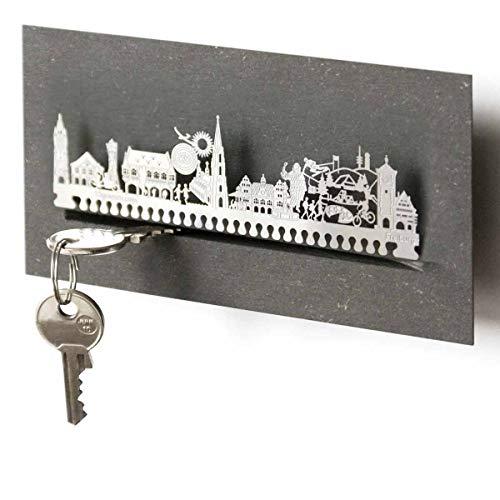 13gramm Freiburg-Skyline Schlüsselbrett Souvenir in der Geschenk-Box