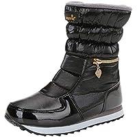 feiXIANG Damen Winter Stiefeletten Wasserdicht Outdoor Wanderschuhe Reißverschluss Warm Boots Schneeschuhe for Women