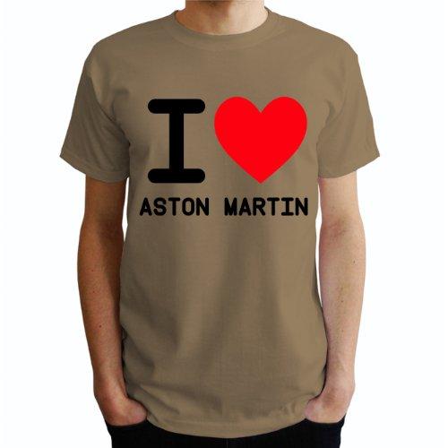 I love Aston Martin Herren T-Shirt Beige