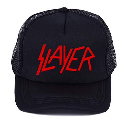 SADUZI Baseballmütze Pop The Band Herren Baseball Caps Die Speed   Metal Cap Herren Sommer Baseball Mesh Net Trucker Cap, Schwarz