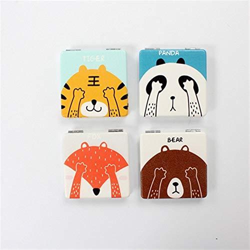 Andre Home Interessantes Spielzeug Mini Square Shape-Gesichtstier-Muster-kleine Glasspiegel für...