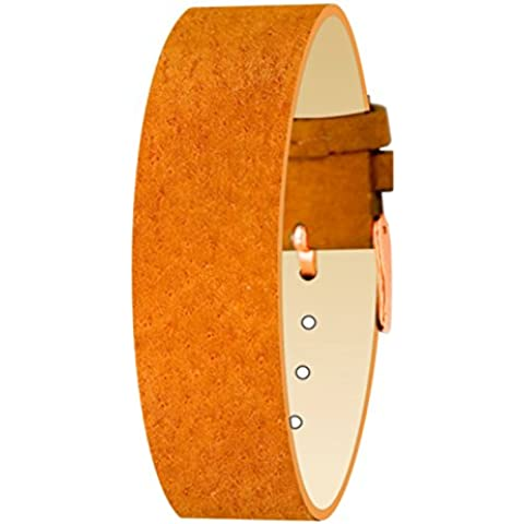 Moog Paris-Cinturino in pelle Mirage Pécari opaco, arancione-Anello in oro rosa-Moog ##TTC strap-PE-01RG