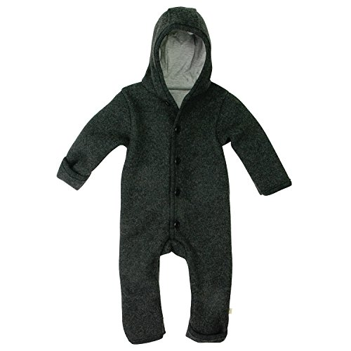 Disana 361XXXX - Walk-Overall Wolle , Anthrazit, 62/68 3-6 Monate (Baby-winter-körper-anzug)