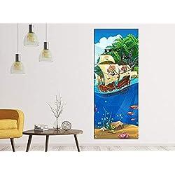 Cuadro para habitación infantil de piratas, 40 x 100 cm.