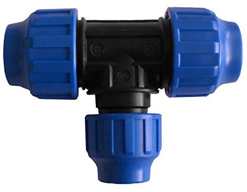 Té de dérivation réduit PP pour tuyau PE avec 3 écrous