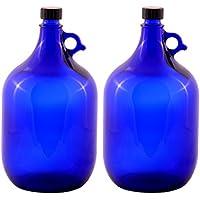 LGL Haushaltswaren GmbH Glasballonflasche/BLAU / Gallone / 2 Liter oder 5 Liter (2 x 5 Liter)