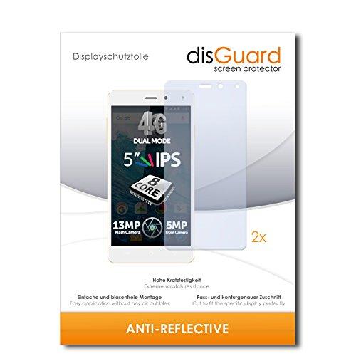 disGuard® Bildschirmschutzfolie [Anti-Reflex] kompatibel mit Allview E4 Lite [2 Stück] Entspiegelnd, Matt, Antireflektierend, Extrem Kratzfest, Anti-Fingerabdruck - Panzerglas Folie, Schutzfolie