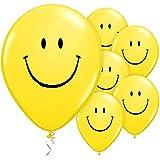 DeCoArt... Folienballon Oma Geburtstag Herz rot Beste Oma der Welt ca. 45 cm (Ballongas geeignet) und 10 Latexballons klein ca. 12,5 cm perl mix zur Fertigung einer Ballonkugel als Ballongewicht Farben: sortiert mix (mit DeCoArt...Anleitung zur Fertigung) DeCoArt... SET PREIS 6 Luftballons Smiley gelb schwarz bedruckt ca. 28 cm und 10 Ballonverschlüsse weiß