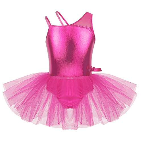 Agoky Maillot Niña Gimnasia Ritmica Danza Ballet Brillante Leotardo Clásico Elástico sin...