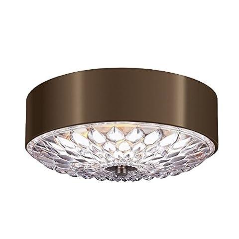 Hana - Elegant Small Flush Mount Ceiling Light - Dark Aged Brass