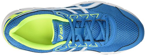 Asics Unisex-Kinder Gel Galaxy 9 Gs Laufschuhe Mehrfarbig (Blue Jewel/White/Safety Yellow)
