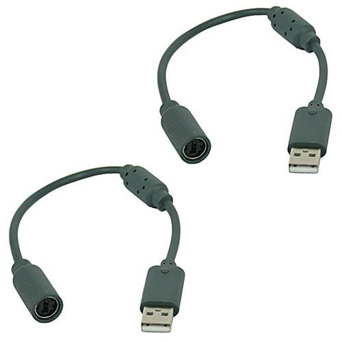 Rabi 2unidades de repuesto Dongle USB para cable de retención para Xbox 360controladores de cable–Color Gris Oscuro