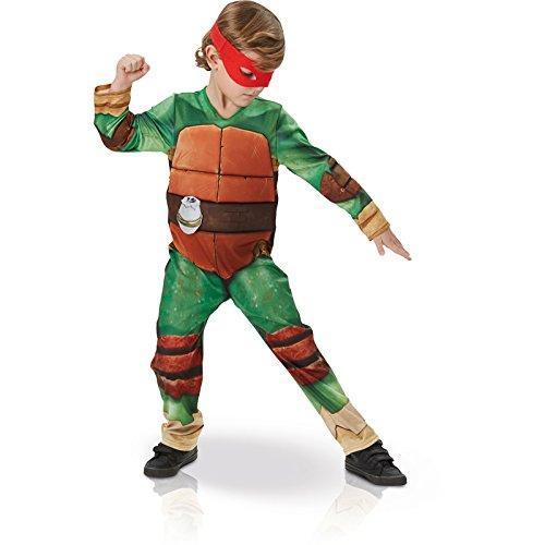 Tmnt Kostüm (Kinder-Kostüm Turtles Größe S (3-4 Jahre) Deluxe Fasching Karneval Schildkröte Aktionheld)