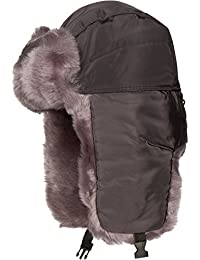 Sakkas Martin Adjustable Casual Aviator Ushanka Trapper Hat Faux Fur Lined