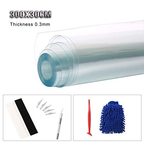 sfesnid pellicola adesiva/rivestimento adesivo adesiva senza bolla d'aria per auto decalcomania adesivo in vinile da decorazione fai-da-te/300cm x 30cm lucido trasparente