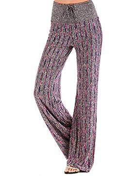 CROSS1946 pantaloni yoga da donna elastici largo sportivi