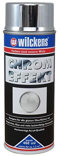 WILCKENS Chrom Effekt Spray 400ml Lack silber Glanz Sprühfarbe Farbe Chromspray DIY