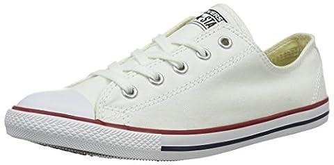 Converse CT Dainty Ox C537204 Damen Sneaker, Weiß (Blanc/Rouge), 38.5 EU