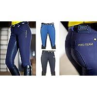 HKM Flash de equitación para niños de 3/4silicona ribete Pantalón, todo el año, infantil, color azul oscuro, tamaño 152