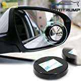 #6: AUTOTRUMP Rear View Round Blind Spot Mirror -360 Degree Adjustable Wide Angle for Mahindra TUV 300