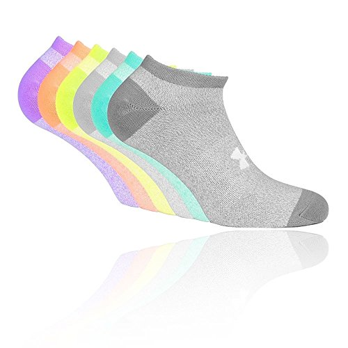 UNDAS:Under Armour Damen Solid 6 Pks NO Show Socken, Assorted, MD (Under Armour Sport-socken)