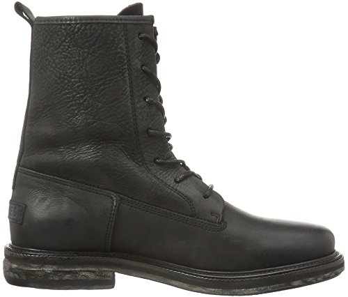 Shabbies Amsterdam Shabbies 18cm Lace Up Boot Leather Sole Rash, Bottes Classiques femme Noir - Noir