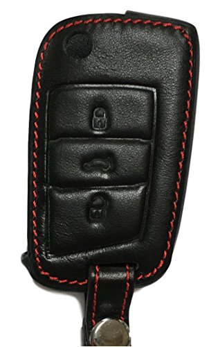 Schlüsseltasche - Echt-Leder für Polo Facelift C6 Golf 7 MK7 7er Golf Touran Passat B8 Limousine & Kombi Tiguan 2 Arteon - Teroc neuste Generationen - Etui Hülle Autoschlüssel