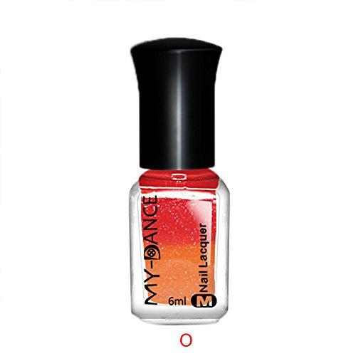 Kostüm Deesse - Thermal Nagellack Farbwechsel Abziehen Lack Beauty Sexy Cosmetic Thermo Effekt Color Changing Nail Polish mehrfarbig ablösbarer Gel Pretty Art Peel Off Sunlight Sensitive Lacquer Varnish DIY Manicure