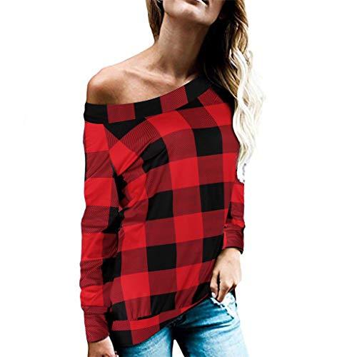 Herbst Winter Langarmshirt, Trisee Schulterfrei Off Shoulder Pullover Oversize Bluse Leopard Blumendruck Gitter Schlange Oversize Tops Warm Bequem Slim Lässig Stilvoll Frauen Shirts -