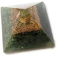 Grün Jade Edelstein Pyramide, Reiki Healing Edelstein Chakra Pyramide, spirituelle Energetische Pyramide mit Bergkristall-Point... preisvergleich bei billige-tabletten.eu