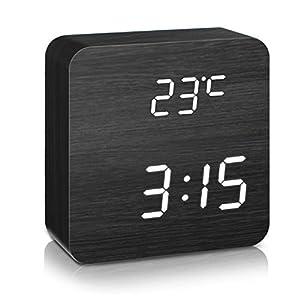 DIGOO LED Digital Wecker mit 5 Gruppen Alarm Einstellung, Temperatur Zeit und Datum Display, 5 Einstellbare Helligkeit…