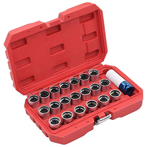 guyifuzhuangs Werkstattausrüstung & Werkzeuge Handwerkzeuge 21-TLG. Abschließbares Radmutter-Schlüssel-Set für VAG