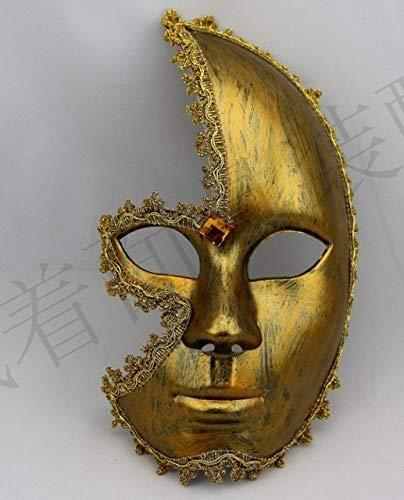 n Make-up Ball Prinzessin Party Federn Venezianische Maske halbes Gesicht Männer und Frauen Maske, Gold ()