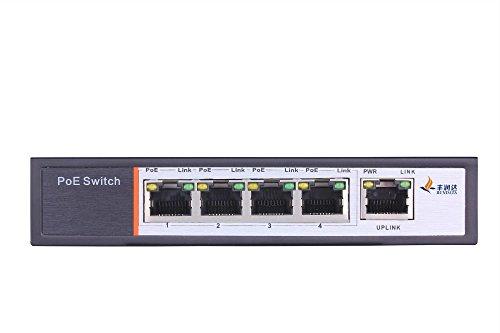 PS104 - PoE (Power over Ethernet) Switch 5 Ports, 4 PoE Ports, 802.3af, 48 V, 60 W