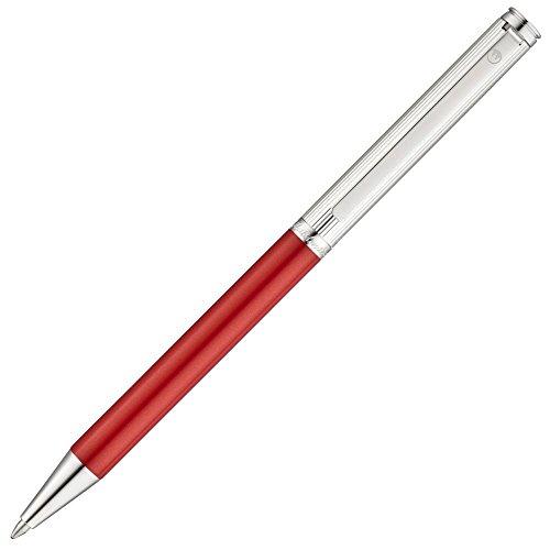 WALDMANN 0358 Argento e penna a sfera rossa 'Brio'