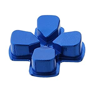 Metall Ersatz D-PAD Taste für PlayStation 4 PS4 Regler Blau